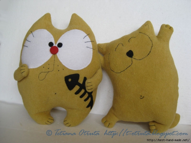 Как сшить игрушку кота своими руками красиво и легко