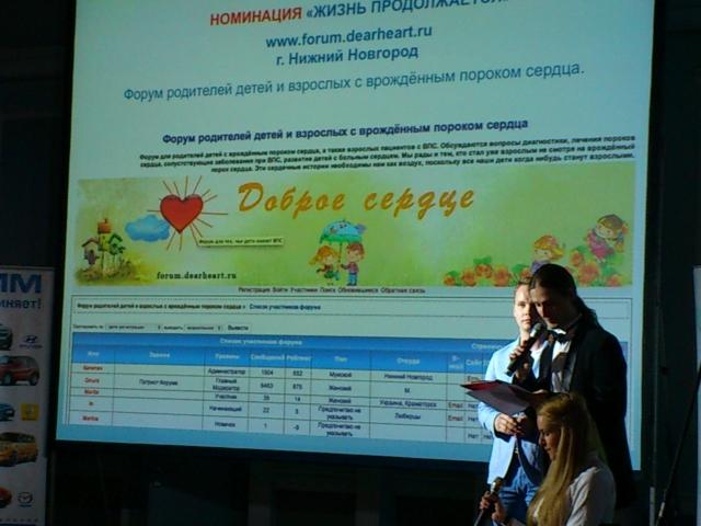 Изображение страницы форума родителей детей и взрослых с врожёднным пороком сердца